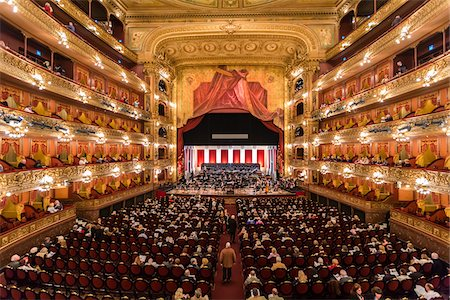 people in argentina - Interior of Teatro Colon, Buenos Aires, Argentina Stock Photo - Rights-Managed, Code: 700-07237767