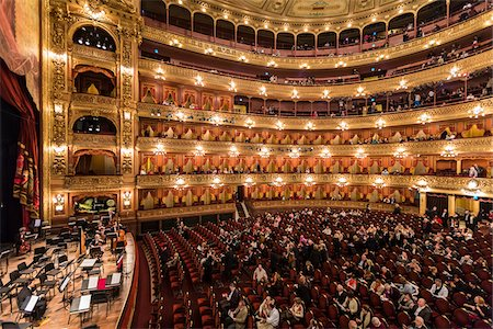Interior of Teatro Colon, Buenos Aires, Argentina Stock Photo - Rights-Managed, Code: 700-07237763