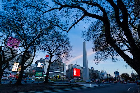 Obelisco de Buenos Aires, Plaze de la Republica, Buenos Aires, Argentina Stock Photo - Rights-Managed, Code: 700-07237774