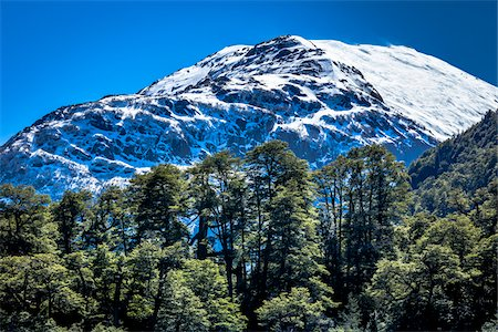 View of mountain top, The Andes Mountains at Nahuel Huapi National Park (Parque Nacional Nahuel Huapi­), Argentina Stock Photo - Rights-Managed, Code: 700-07237906