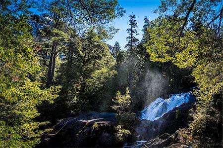 Scenic view of Cascada Los Cantaros, Nahuel Huapi National Park (Parque Nacional Nahuel Huapi), Argentina Stock Photo - Rights-Managed, Code: 700-07237919