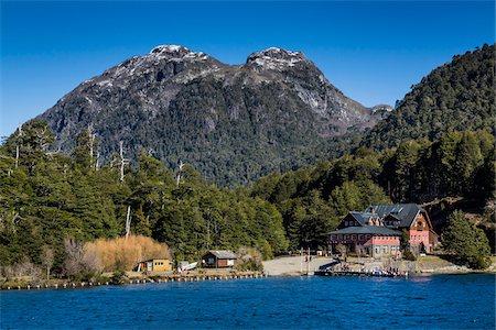 Shoreline and lodge, Puerto Blest, Nahuel Huapi National Park (Parque Nacional Nahuel Huapi), Argentina Stock Photo - Rights-Managed, Code: 700-07237910
