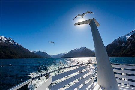 Close-up of tour boat with seagull on lake, Cruce Andino, Nahuel Huapi National Park (Parque Nacional Nahuel Huapi), Argentina Stock Photo - Rights-Managed, Code: 700-07237927