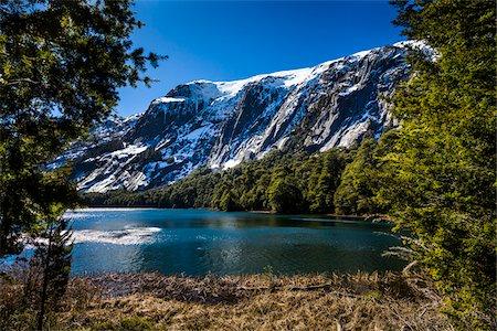 Scenic view of lake and the Andes Mountains at Nahuel Huapi National Park (Parque Nacional Nahuel Huapi), Argentina Stock Photo - Rights-Managed, Code: 700-07237922