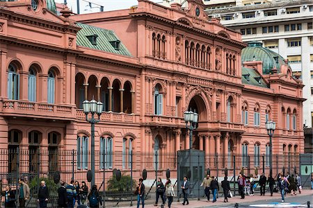 people in argentina - Casa Rosada, the Presidential Palace in Plaza de Mayo, Buenos Aires, Argentina Stock Photo - Rights-Managed, Code: 700-07237956