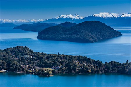 Scenic overview of Bariloche and the Andes Mountains, Nahuel Huapi National Park (Parque Nacional Nahuel Huapi), Argentina Stock Photo - Rights-Managed, Code: 700-07237951