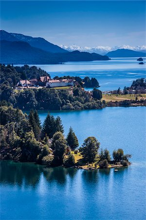 Scenic overview of Bariloche and the Andes Mountains, Nahuel Huapi National Park (Parque Nacional Nahuel Huapi), Argentina Stock Photo - Rights-Managed, Code: 700-07237953