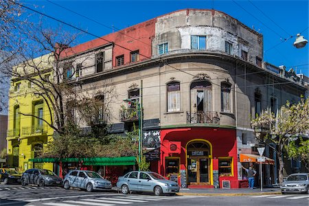 Buildings and street scene, Palermo, Buenos Aires, Argentina Stock Photo - Rights-Managed, Code: 700-07237961