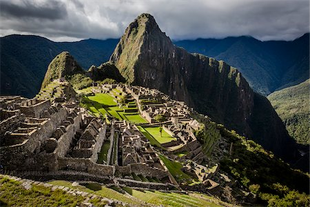 Scenic overview of Machu Picchu, Peru Stock Photo - Rights-Managed, Code: 700-07237977