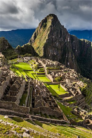 Scenic overview of Machu Picchu, Peru Stock Photo - Rights-Managed, Code: 700-07237978