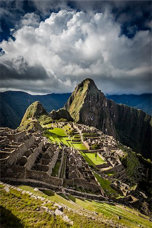 Scenic overview of Machu Picchu, Peru Stock Photo - Rights-Managed, Code: 700-07237979