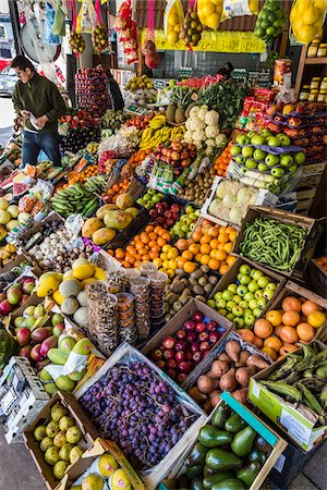 Fruits and vegetables on displayed at market, Buenos Aires, Argentina Stock Photo - Rights-Managed, Code: 700-07237971