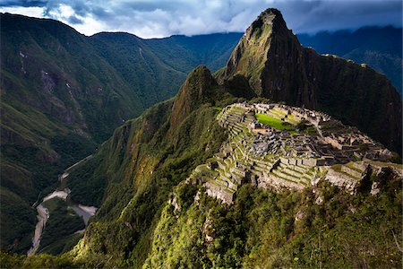 Scenic overview of Machu Picchu, Peru Stock Photo - Rights-Managed, Code: 700-07237980