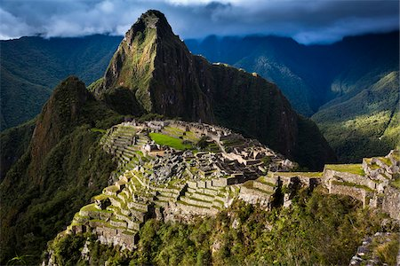 Scenic overview of Machu Picchu, Peru Stock Photo - Rights-Managed, Code: 700-07237981