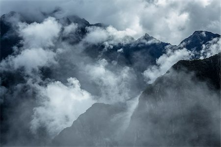 Overview of the Andes Mountains with clouds, at Machu Picchu in the Sacred Valley of the Incas, Peru Stock Photo - Rights-Managed, Code: 700-07238037
