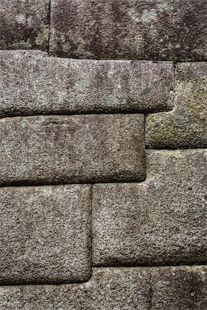 Close-up of structure of brick walls, Machu Picchu, Peru Stock Photo - Rights-Managed, Code: 700-07238051