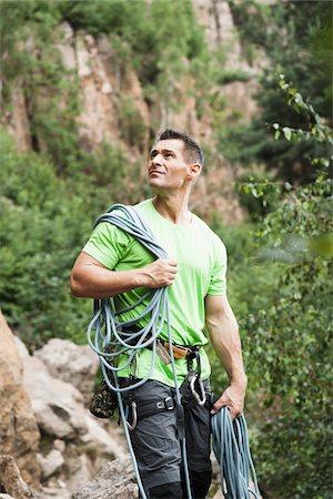 rock climber - Mature Man Rock Climbing, Schriesheim, Baden-Wurttemberg, Germany Stock Photo - Rights-Managed, Code: 700-07238114