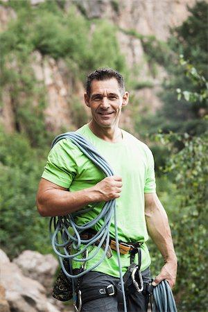 rock climber - Mature Man Rock Climbing, Schriesheim, Baden-Wurttemberg, Germany Stock Photo - Rights-Managed, Code: 700-07238115