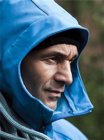 rock climber - Portrait of Mature Man in Rain Coat, Schriesheim, Baden-Wurttemberg, Germany Stock Photo - Rights-Managed, Code: 700-07238116