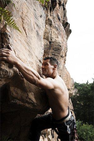 rock climber - Mature Man Rock Climbing, Schriesheim, Baden-Wurttemberg, Germany Stock Photo - Rights-Managed, Code: 700-07238118