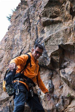 rock climber - Mature Man Rock Climbing, Schriesheim, Baden-Wurttemberg, Germany Stock Photo - Rights-Managed, Code: 700-07238125