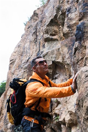 Mature Man Rock Climbing, Schriesheim, Baden-Wurttemberg, Germany Stock Photo - Rights-Managed, Code: 700-07238126
