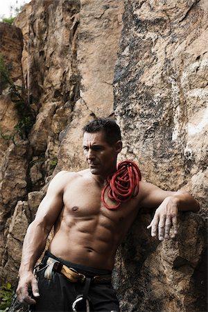 rock climber - Mature Man Rock Climbing, Schriesheim, Baden-Wurttemberg, Germany Stock Photo - Rights-Managed, Code: 700-07238123