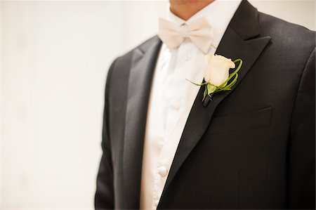 Close-up of Bridegroom in tuxedo with boutonniere, Canada Stock Photo - Rights-Managed, Code: 700-07232342