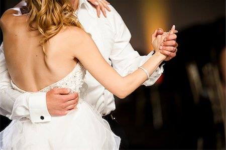 dancing - Close-up of Bride and Groom dancing at Reception on Wedding Day, Canada Stock Photo - Rights-Managed, Code: 700-07232352