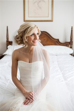 Portrait of Bride in Bedroom, Toronto, Ontario, Canada Stock Photo - Rights-Managed, Code: 700-07278722
