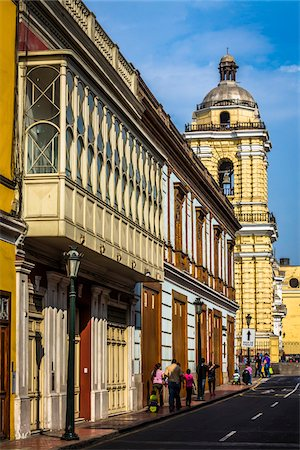 peru and culture - View of Ancash Street in downtown Lima, Peru Stock Photo - Rights-Managed, Code: 700-07279064