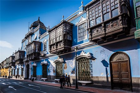 Osambela House, Conde de Superunda Street, Lima, Peru Stock Photo - Rights-Managed, Code: 700-07279066