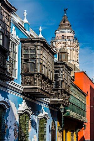 peru and culture - Osambela House, Conde de Superunda Street, Lima, Peru Stock Photo - Rights-Managed, Code: 700-07279067