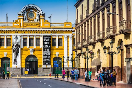 peru and culture - House of the Peruvian Literature on Carabaya Street in downtown Lima, Peru Stock Photo - Rights-Managed, Code: 700-07279061