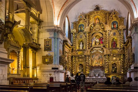 peru and culture - Interior of Cathedral of Santo Domingo, Cusco, Peru Stock Photo - Rights-Managed, Code: 700-07279076