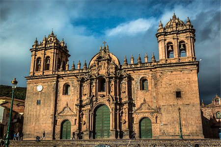 peru and culture - Facade of Cathedral of Santo Domingo, Cusco, Peru Stock Photo - Rights-Managed, Code: 700-07279073