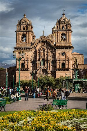 peru and culture - Church of the Society of Jesus, Plaza de Armas, Cusco, Peru Stock Photo - Rights-Managed, Code: 700-07279082