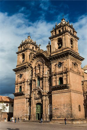 Church of the Society of Jesus, Plaza de Armas, Cusco, Peru Fotografie stock - Rights-Managed, Codice: 700-07279083