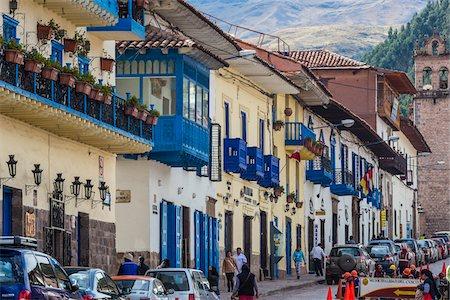 peru and culture - Street scene, Cusco, Peru Stock Photo - Rights-Managed, Code: 700-07279096