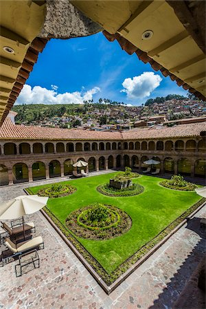 peru and culture - Courtyard at Hotel Monasterio, Cusco, Peru Stock Photo - Rights-Managed, Code: 700-07279091