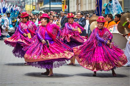 south american woman - Dancers at Religious Festival Procession, Lima, Peru Stock Photo - Rights-Managed, Code: 700-07279154