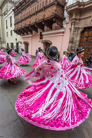 peru and culture - Dancers in Religious Festival Procession, Lima, Peru Stock Photo - Rights-Managed, Code: 700-07279152