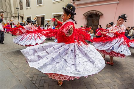 Dancers at Religious Festival Procession, Lima, Peru Stock Photo - Rights-Managed, Code: 700-07279153