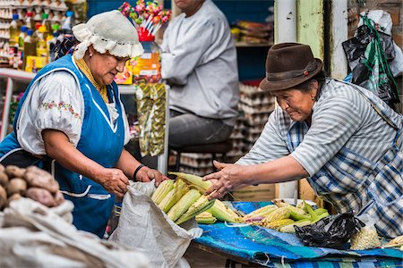 Corn for Sale in Food Market, Otavalo, Imbabura Province, Ecuador Stock Photo - Rights-Managed, Code: 700-07279327