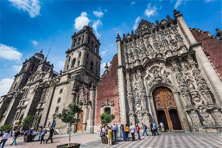 Mexico City Metropolitan Cathedral and Metropolitan Tabernacle, Plaza de la Constitucion, Mexico City, Mexico Stock Photo - Rights-Managed, Code: 700-07279458
