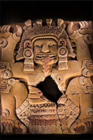 Artifact in Templo Mayor Museum, Mexico City, Mexico Stock Photo - Rights-Managed, Code: 700-07279502