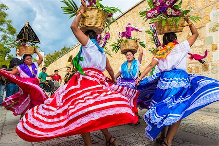 Traditional Oaxacan Dancers at Wedding, Oaxaca de Juarez, Oaxaca, Mexico Stock Photo - Rights-Managed, Code: 700-07279521