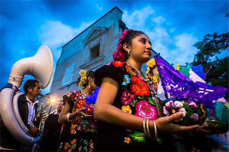 Dancers at Day of the Dead Festival Parade, Oaxaca de Juarez, Oaxaca, Mexico Stock Photo - Rights-Managed, Code: 700-07279532