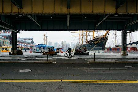 street - View of street scene through underpass at Pier 17, Lower Manhattan, Manhattan, New York City, New York, USA Stock Photo - Rights-Managed, Code: 700-07310305