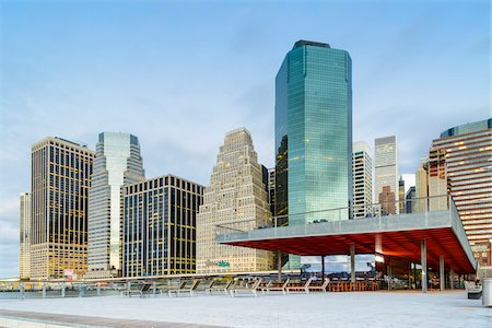 View of downtown, Lower Manhattan skyline from Pier 16, Manhattan, New York City, New York, USA Stock Photo - Rights-Managed, Code: 700-07310306